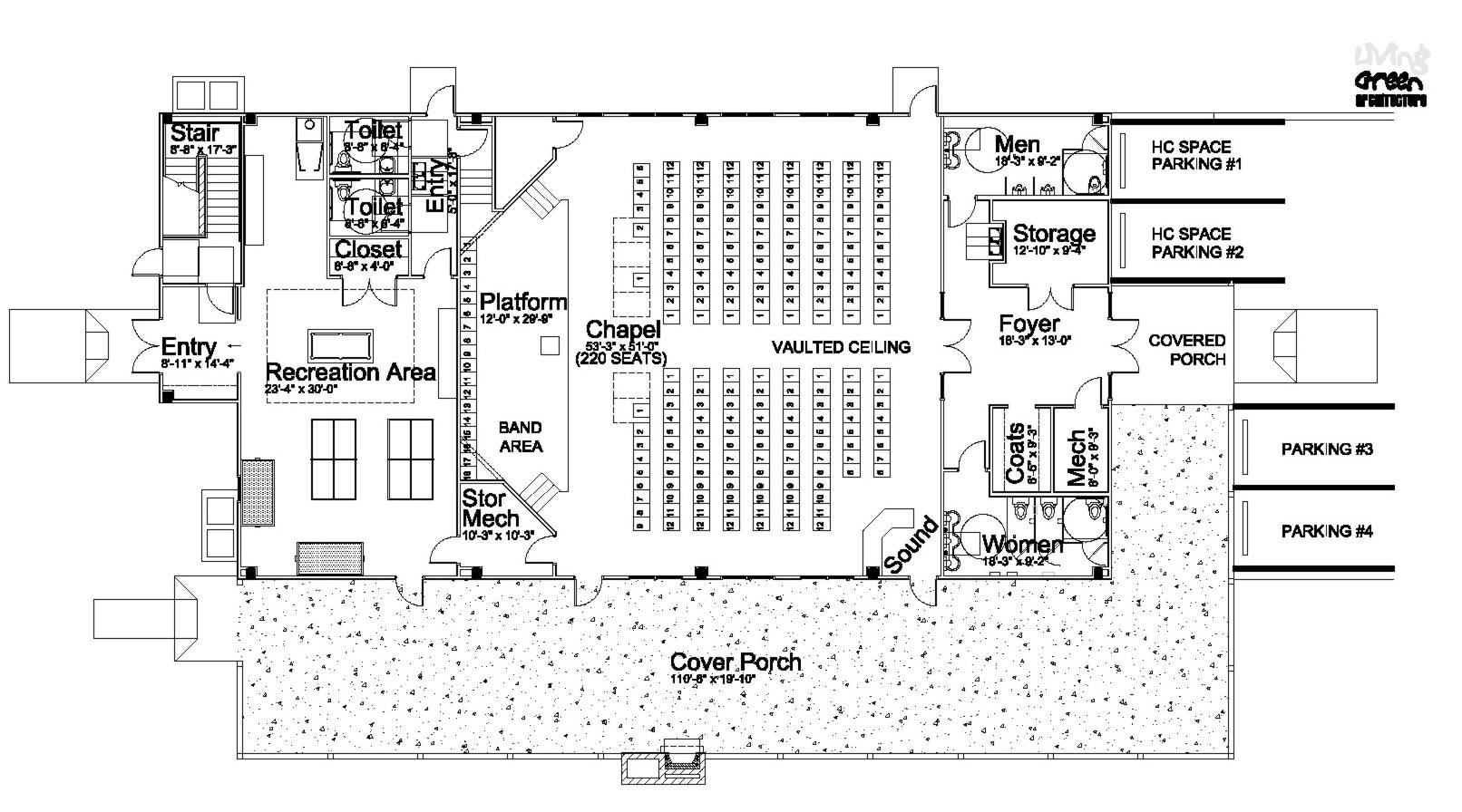 Floor plan bethel camp for House dining hall design